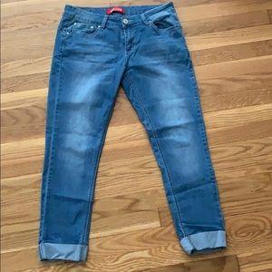 Cuffed Jean capris, size 11